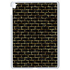 Brick1 Black Marble & Gold Foil Apple Ipad Pro 9 7   White Seamless Case by trendistuff