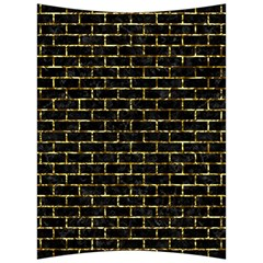 Brick1 Black Marble & Gold Foil Back Support Cushion by trendistuff