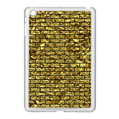 Brick1 Black Marble & Gold Foil (r) Apple Ipad Mini Case (white) by trendistuff