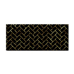 Brick2 Black Marble & Gold Foil Cosmetic Storage Cases by trendistuff