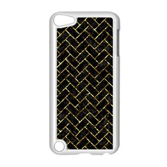 Brick2 Black Marble & Gold Foil Apple Ipod Touch 5 Case (white) by trendistuff