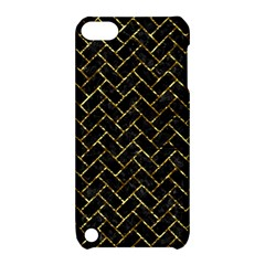 Brick2 Black Marble & Gold Foil Apple Ipod Touch 5 Hardshell Case With Stand by trendistuff