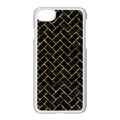 Brick2 Black Marble & Gold Foil Apple Iphone 7 Seamless Case (white) by trendistuff