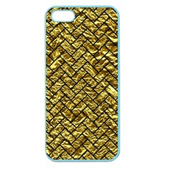 Brick2 Black Marble & Gold Foil (r) Apple Seamless Iphone 5 Case (color) by trendistuff