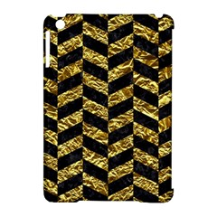 Chevron1 Black Marble & Gold Foil Apple Ipad Mini Hardshell Case (compatible With Smart Cover) by trendistuff