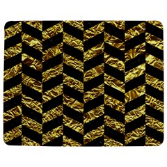Chevron1 Black Marble & Gold Foil Jigsaw Puzzle Photo Stand (rectangular) by trendistuff