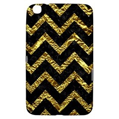 Chevron9 Black Marble & Gold Foil Samsung Galaxy Tab 3 (8 ) T3100 Hardshell Case