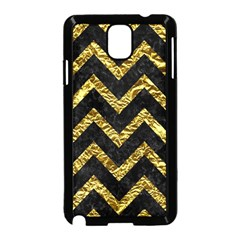 Chevron9 Black Marble & Gold Foil Samsung Galaxy Note 3 Neo Hardshell Case (black) by trendistuff