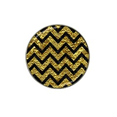 Chevron9 Black Marble & Gold Foil (r) Hat Clip Ball Marker (10 Pack) by trendistuff