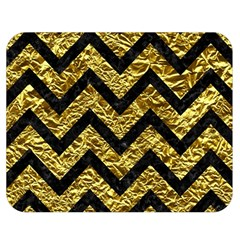 Chevron9 Black Marble & Gold Foil (r) Double Sided Flano Blanket (medium)  by trendistuff