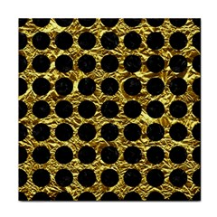 Circles1 Black Marble & Gold Foil (r) Face Towel by trendistuff
