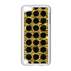 Circles1 Black Marble & Gold Foil (r) Apple Ipod Touch 5 Case (white) by trendistuff