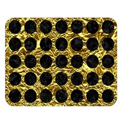 Circles1 Black Marble & Gold Foil (r) Double Sided Flano Blanket (large)  by trendistuff