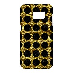 Circles1 Black Marble & Gold Foil (r) Samsung Galaxy S7 Hardshell Case  by trendistuff