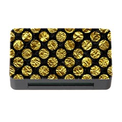 Circles2 Black Marble & Gold Foil Memory Card Reader With Cf by trendistuff