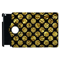 Circles2 Black Marble & Gold Foil Apple Ipad 2 Flip 360 Case by trendistuff