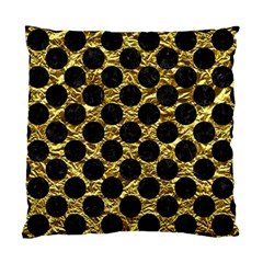 Circles2 Black Marble & Gold Foil (r) Standard Cushion Case (one Side) by trendistuff