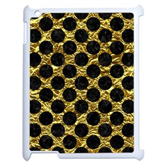 Circles2 Black Marble & Gold Foil (r) Apple Ipad 2 Case (white) by trendistuff