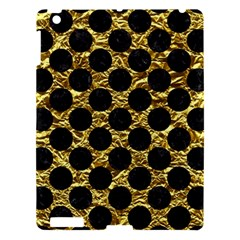 Circles2 Black Marble & Gold Foil (r) Apple Ipad 3/4 Hardshell Case by trendistuff