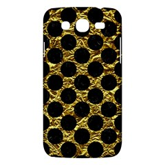 Circles2 Black Marble & Gold Foil (r) Samsung Galaxy Mega 5 8 I9152 Hardshell Case  by trendistuff