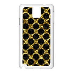 Circles2 Black Marble & Gold Foil (r) Samsung Galaxy Note 3 N9005 Case (white) by trendistuff