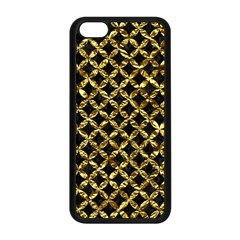 Circles3 Black Marble & Gold Foil Apple Iphone 5c Seamless Case (black) by trendistuff