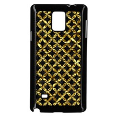 Circles3 Black Marble & Gold Foil Samsung Galaxy Note 4 Case (black) by trendistuff