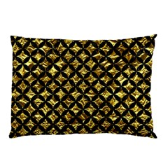 Circles3 Black Marble & Gold Foil (r) Pillow Case (two Sides) by trendistuff