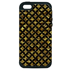 Circles3 Black Marble & Gold Foil (r) Apple Iphone 5 Hardshell Case (pc+silicone) by trendistuff