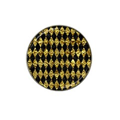 Diamond1 Black Marble & Gold Foil Hat Clip Ball Marker (4 Pack) by trendistuff