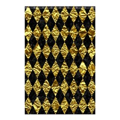 Diamond1 Black Marble & Gold Foil Shower Curtain 48  X 72  (small)  by trendistuff