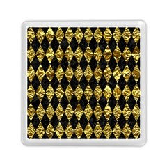 Diamond1 Black Marble & Gold Foil Memory Card Reader (square)  by trendistuff