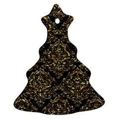 Damask1 Black Marble & Gold Foil Ornament (christmas Tree)  by trendistuff