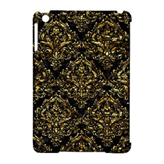 Damask1 Black Marble & Gold Foil Apple Ipad Mini Hardshell Case (compatible With Smart Cover) by trendistuff