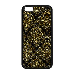 Damask1 Black Marble & Gold Foil Apple Iphone 5c Seamless Case (black) by trendistuff