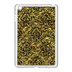 Damask1 Black Marble & Gold Foil (r) Apple Ipad Mini Case (white) by trendistuff