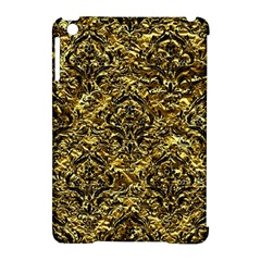 Damask1 Black Marble & Gold Foil (r) Apple Ipad Mini Hardshell Case (compatible With Smart Cover) by trendistuff