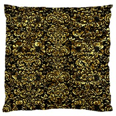 Damask2 Black Marble & Gold Foil Large Cushion Case (two Sides) by trendistuff