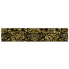 Damask2 Black Marble & Gold Foil Flano Scarf (small) by trendistuff