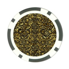 Damask2 Black Marble & Gold Foil (r) Poker Chip Card Guard (10 Pack) by trendistuff