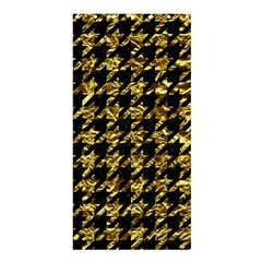 Houndstooth1 Black Marble & Gold Foil Shower Curtain 36  X 72  (stall)  by trendistuff
