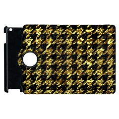 Houndstooth1 Black Marble & Gold Foil Apple Ipad 3/4 Flip 360 Case by trendistuff