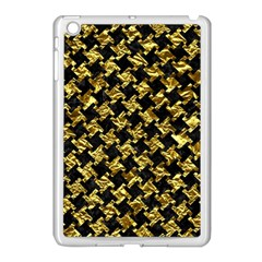 Houndstooth2 Black Marble & Gold Foil Apple Ipad Mini Case (white) by trendistuff