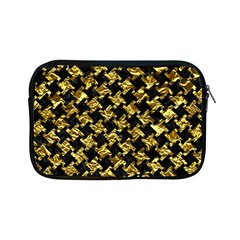 Houndstooth2 Black Marble & Gold Foil Apple Ipad Mini Zipper Cases by trendistuff