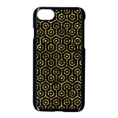 Hexagon1 Black Marble & Gold Foil Apple Iphone 7 Seamless Case (black) by trendistuff