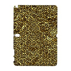 Hexagon1 Black Marble & Gold Foil (r) Galaxy Note 1 by trendistuff