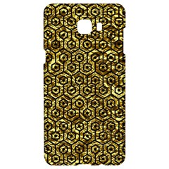 Hexagon1 Black Marble & Gold Foil (r) Samsung C9 Pro Hardshell Case  by trendistuff