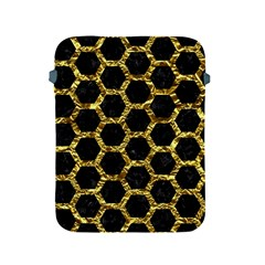Hexagon2 Black Marble & Gold Foil Apple Ipad 2/3/4 Protective Soft Cases by trendistuff