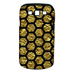 Hexagon2 Black Marble & Gold Foil (r) Samsung Galaxy S Iii Classic Hardshell Case (pc+silicone) by trendistuff