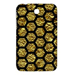 Hexagon2 Black Marble & Gold Foil (r) Samsung Galaxy Tab 3 (7 ) P3200 Hardshell Case  by trendistuff